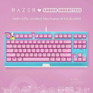 New RAZER x Sanrio Hello Kitty Limited Edition Professional Gaming Keyboard Pink