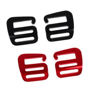 4Pcs 1/'/' Hook Outdoor Adjust Webbing Buckle Backpack Strap Clip Red+Silver