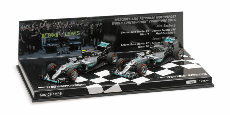 Mercedes W07 Costructor World Champion 2016 Rosberg Hamilton Set 1 43 Model  | Rabatt