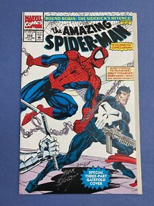 Marvel-AMAZING-SPIDER-MAN-358-Comic-Book-LOT-Signed-MARK-BAGLEY-NM-Moon-Knight