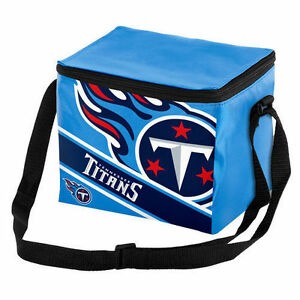 f4c097dc Details about Tennessee Titans NFL Big Logo Striped 6 pack Cooler Lunch Box  Bag Insulated