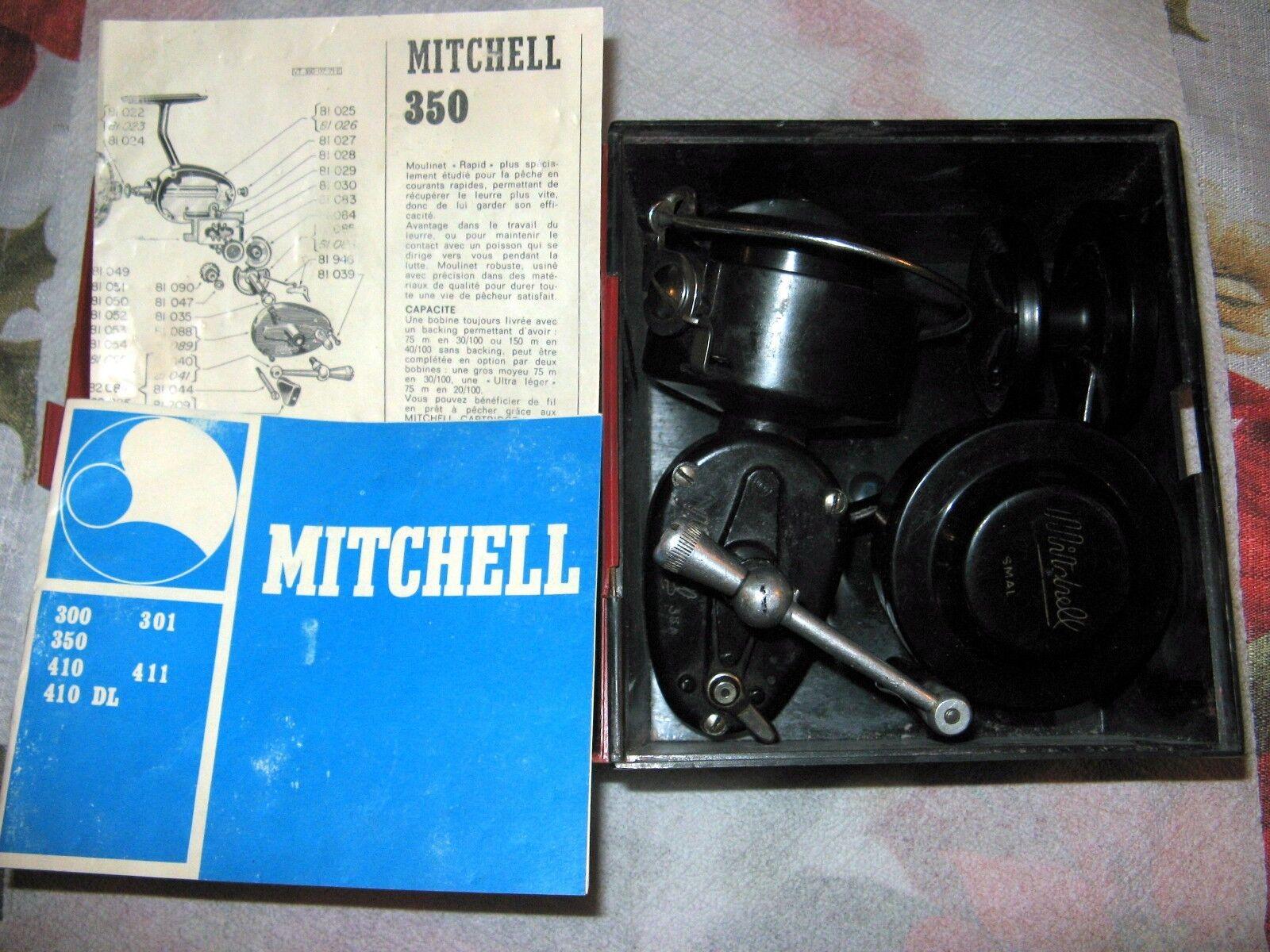 MITCHELL 350 MADE IN FRANCE FISHING REEL 3 rolls rolls rolls aluminum graphite match FULSET 4ea15a