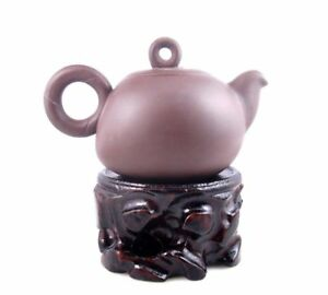Antiques Dashing Yixing Zisha Arcilla Tetera Redondo Aro Mango Circle Tapa De Té Brewing 250ml