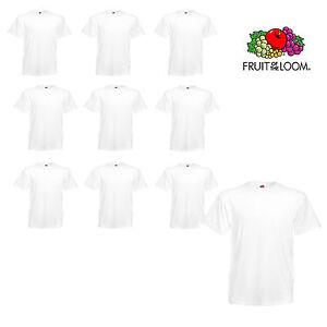644d65eff2ff5 10er Pack weiße Fruit of the Loom T-Shirts Heavy Cotton Herren T ...