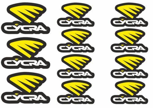 CYCRA Decal Set Sticker Vinyl Graphic Logo Adhesive Kit Aufkleber 11 Pcs