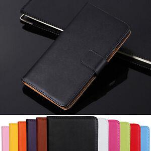Genuine Leather Flip Wallet Case Cover For Sony Xperia Z1 Z2 Z3 Z5 XA2 XZ2 XZ3