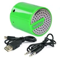 Tech & Go Splash Rechargeable Portable Speaker W/3.5mm Auxiliary Port (green)