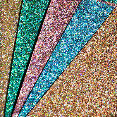 Chunky Glitter Fabric Sheets Premium Quality For Crafts /& Bows A4