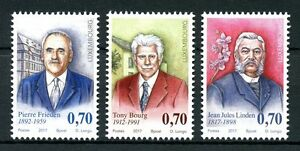Luxembourg-2017-MNH-Personalities-Pierre-Frieden-Tony-Bourg-3v-Set-People-Stamps
