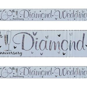 60th-Diamond-Wedding-Anniversary-Plastic-Silver-Holographic-Banner-2-5m-Party