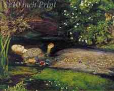 Girl Flower Thoughtful Musing 8x10 Print 2969 Pensive by John Everett Millais