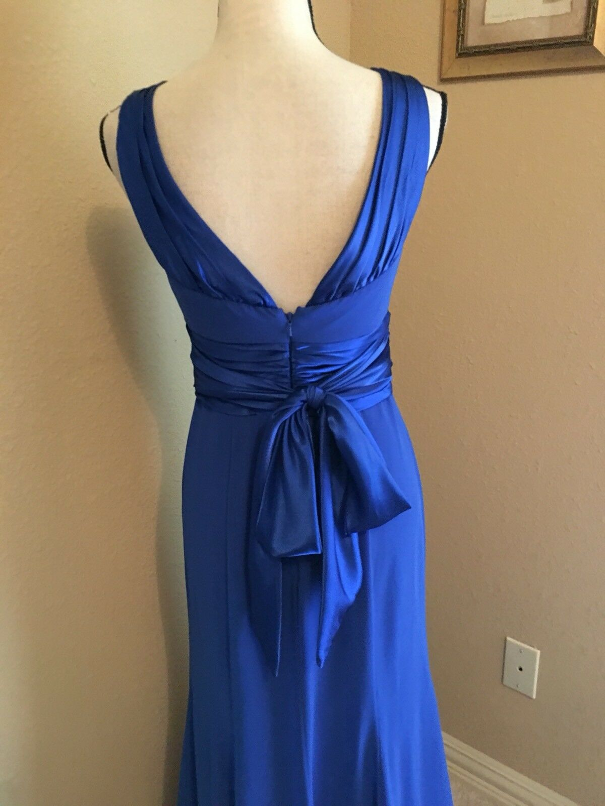 David's Bridal Size 4 bluee Bridesmaid   Formal Dress Dress Dress - 8e667e