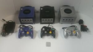Nintendo-Gamecube-System-Console-Black-Indigo-Silver-CLEANED-AND-TESTED