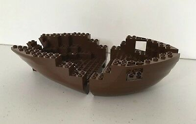 LEGO 2 NEW BOAT HULL BOW STERN 16 x 13 x 2 DOT SHIP PIECES PARTS
