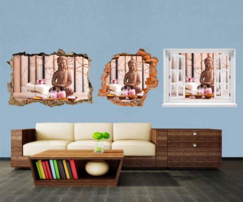 3d-pared Sticker Buda en la meditación pegatinas muro por rotura m0960