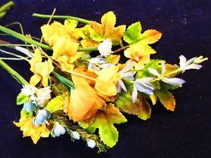 CoopéRative Vintage Chapellerie Collection Fleur Jaune Bleu Ambre 3/8-1 Poupée Taille