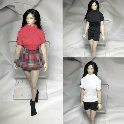 """1//12 Female T-Shirt Short Pants Clothes Model Fit 6/"""" PHicen TBLeague Figure  Toy"""