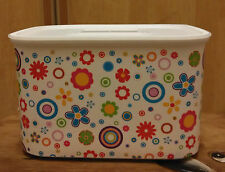 Tupperware Baseline Canister Hippy Flowers