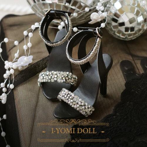 1//3 SD16/&13 DD BJD Shoes High Heels Sandal Starlight Shining Silvery//Black Noble