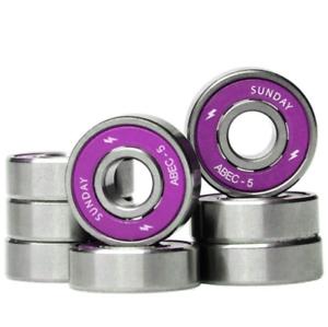 Sunday Abec 5 Purple Skateboard Bearings