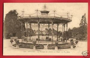 CPA postcard Carousel bandstand Le Kiosque du Jardin du Mail ANGERS ...