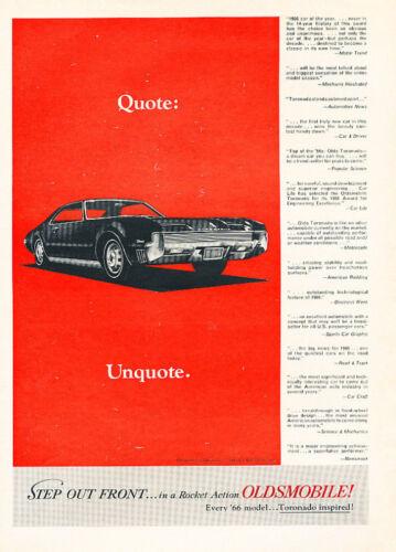 1966 Oldsmobile Toronado Classic Advertisement Ad A1B