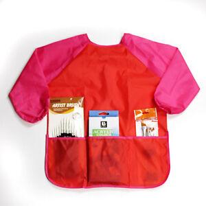 manches-longues-TABLIER-DESSIN-PEINTURE-blouse-enfants-artisanat-art-impermeable