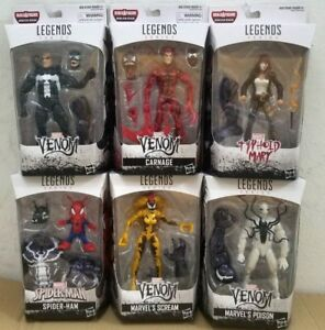 (IN HAND) MARVEL LEGENDS SERIES BAF MONSTER VENOM SET OF 6 CARNAGE SCREAM POISON