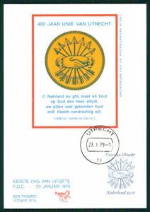 Bien éDuqué Pays-bas Mk 1979 Utrecht Traité De L'union Maximum Carte Maximum Card Mc Cm Ek10-afficher Le Titre D'origine