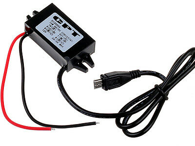 DC 12V to 5V Hard Wired Car Charger Inverter Micro USB for GPS Tablet Phone PDA