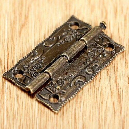 Antique Embossing Hinges Drawer Wardrobe Hinge Furniture Jewelry Box Hardware