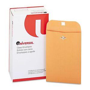 Universal-6-x-9-Clasp-Envelope-Kraft-Mailer-Brown-100-pack-Trade-Size-55