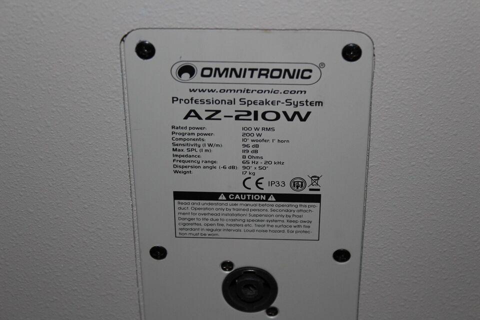 Højttaler, Omnitronic, Grå 200 Watt AZ-210