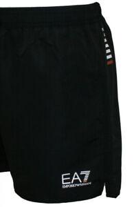 EMPORIO ARMANI EA7 Swim Shorts (Black & Dark Navy)