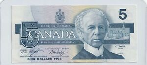 1986-5-Bank-of-Canada-Note-Knight-Dodge-AU-UNC