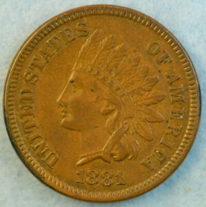 1881 Indian Head Cent Penny Very Nice Old Coin LIBERTY Fast S&H 425