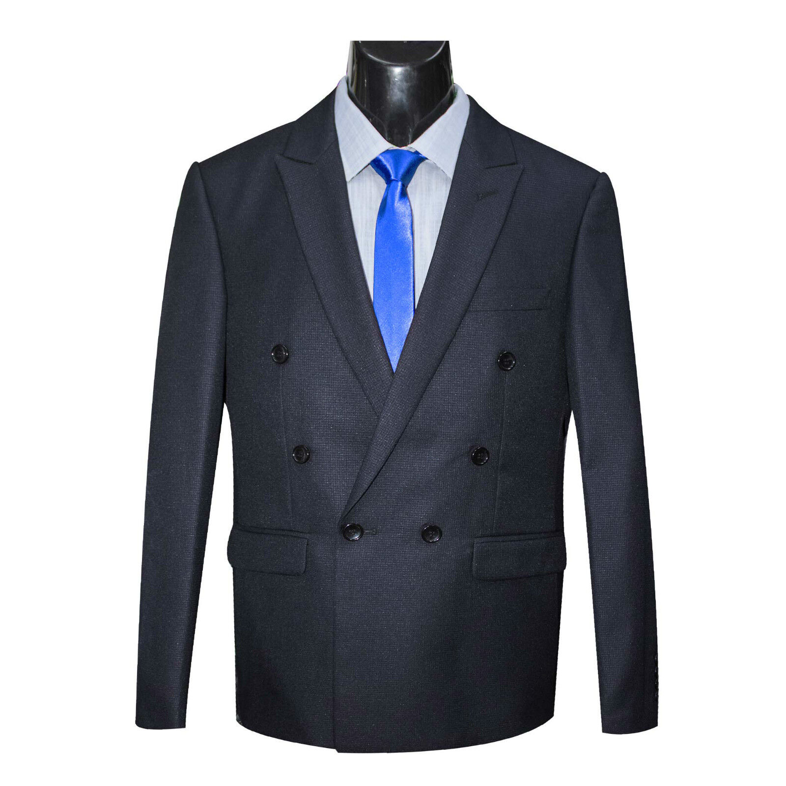 NEW ARRIVAL - herren NAVY DOUBLE BREASTED SLIM FIT SUIT (6x1)