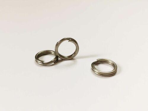50 PACK 80# test ROSCO Stainless Steel Split Rings Size 6 10mm