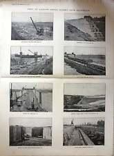 1921 Port Of London Royal Albert Dock Extension Progress Of Works Photos