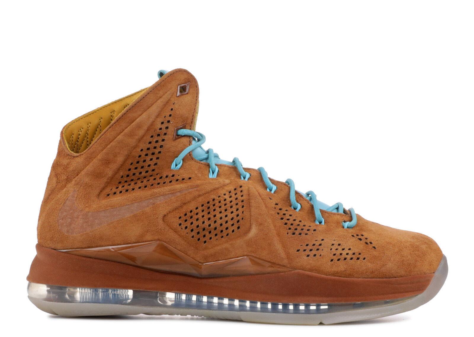 Nike LeBron 10 X EXT QS Hazelnut Size 11. 607078-200
