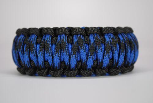 550 Paracord Survival Bracelet King Cobra Black//Blue//Bruiser Camping Tactical