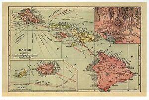 Hawaiian Islands Map Hawaii Oahu Maui Honolulu Etc Hi Modern Postcard Ebay
