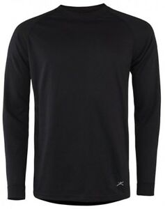 3b4c97945 Details about Men's TERRAMAR 2-Layer Authentic Thermal Crew Shirt BLACK  Baselayer Top NEW NWT