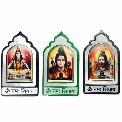 Shiv//Shiva Sticker Metal Adhesive Sticker Hindu God Mandir Sticker 6cm x 4cm