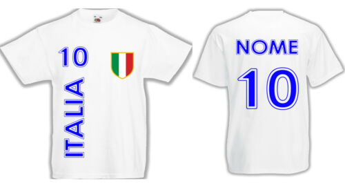 T-shirt BABY BOY//GIRL ITALIA with NOME e SIZE customised FOOTBALL T-shirt