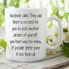 Novedad Divertida Facebook Cita Taza Selfie Para Ella Cumpleaños Amigo WSDMUG744