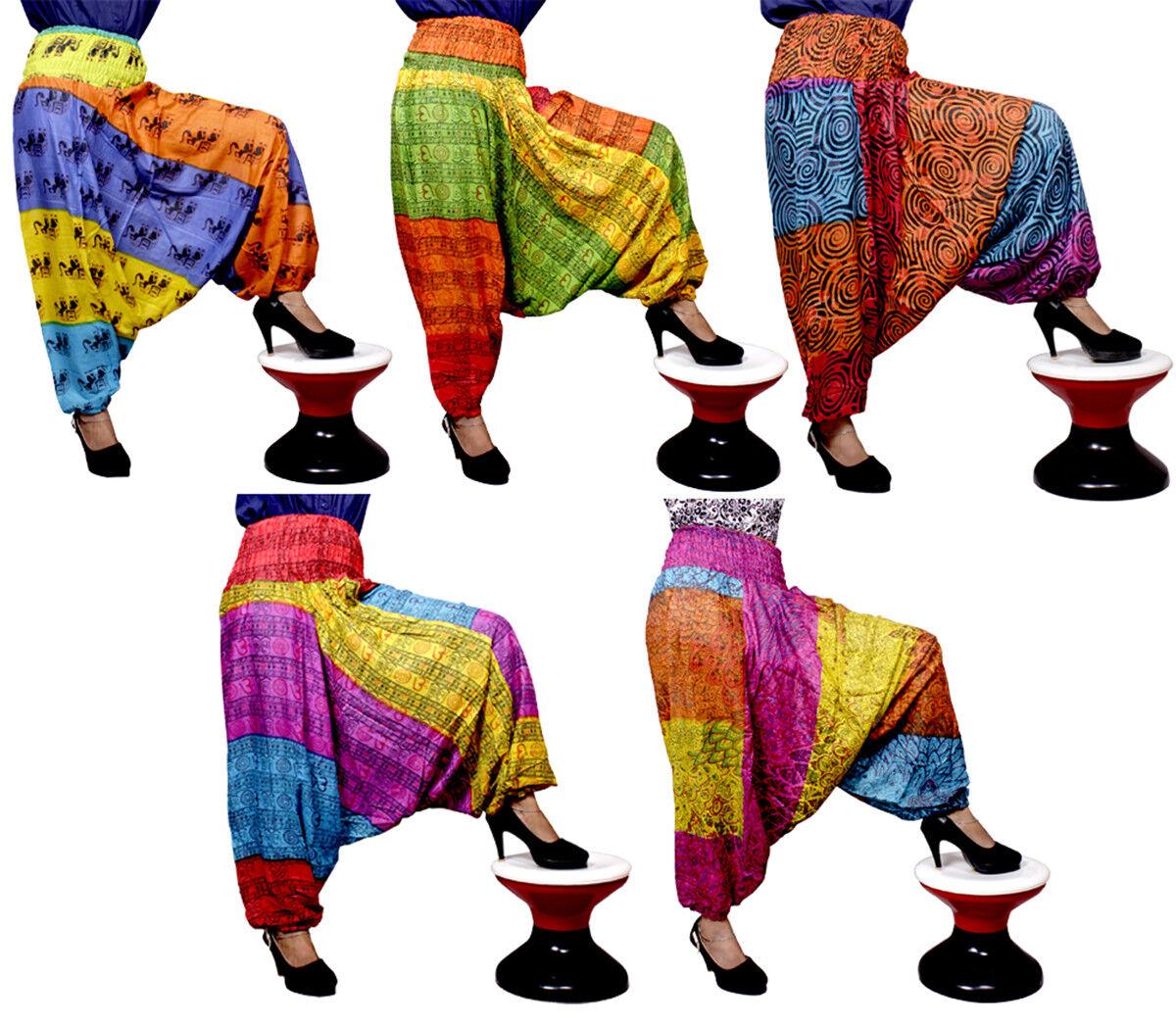 5 10 25 pcs Aladdin Hippie Design Pants Casual Gypsy Baggy Trouser Wholesale Lot