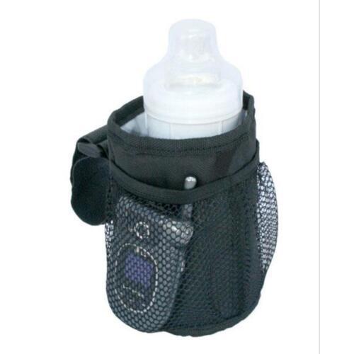 Baby Stroller Cup Drink Mesh Pocket Bag Phone Holder Pram Organizer Bag TO
