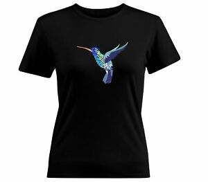 Hummingbird-flying-bird-animal-Cool-gift-t-Shirt-Tee-Girls-Juniors-WomenT-Shirt