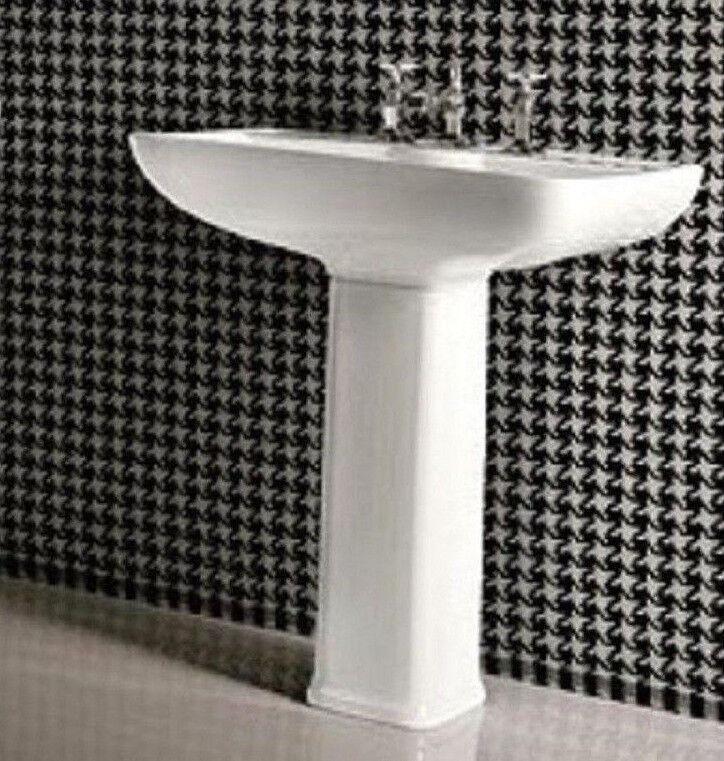 CG Salle de Bain Vestiaire 700 mm Vanity Lavabo évier complet piédestal Dorian 3th XL